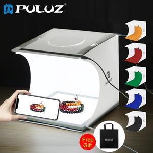 Image 1 - PULUZ Mini 22.5 LED Photography Shadowless Bottom Light Lamp Panel Pad +2LED Panels 20CM lightbox Photo Studio Shooting Tent Box