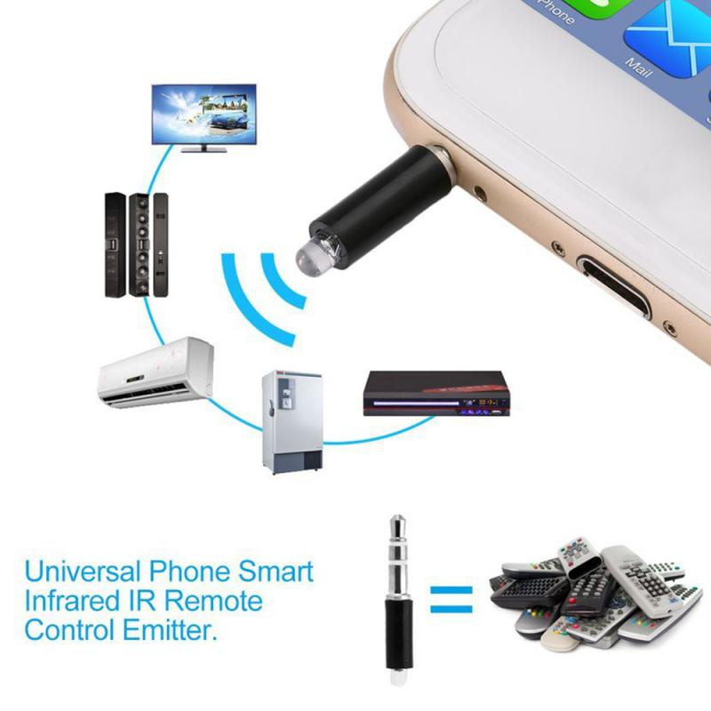 1PC 3.5mm Interface Infrared Transmitter Universal Mobile Phone Wireless Transmitter Remote Control IR Port For TV STB DVD Fan