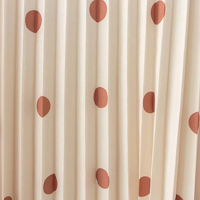 Vintage women elegant polka dots long dress 2020 summer fahsion ladies soft chiffon dresses boho female pleated dress girls chic 5