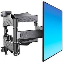 TV duvar montaj döner Tilt TV braketi Soporte monitör tutucu TV rafı tam hareket Articulating uzatma kolları