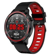 L8 Smart Watch Men Ip68 Waterproof Mode Smart Watch with Ecg Ppg Blood Pressure Heart Rate Sports Fitness Black Red smartwatch все цены