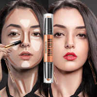 3D Bronzer Highlighter Stick Texture Contour Pencil Foundation Face Make-Up Concealer Pen Multi Effect Double Head Face Palette