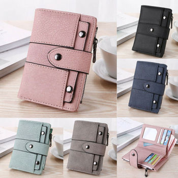 Fashion Faux Leather Wallet for Women Ladies Credit Card Holder Bifold Purse Short