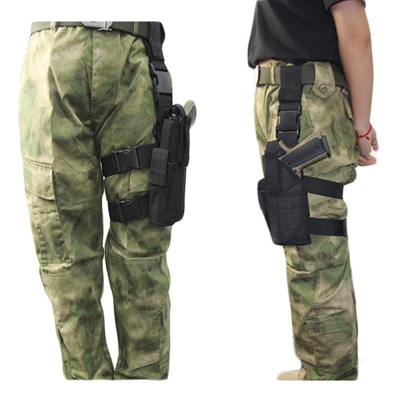 Tactical Nylon Left/Right Leg Airsoft Pistol Case For Glock 17 19 Beretta M9 Gun Drop Universal Leg Gun Pouch Adjustable Holster