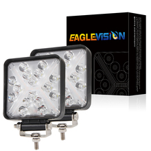 Waterproof Square 4-inch Lens Built-in Work Light With DRL 1