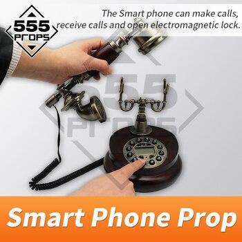 Accesorios 555 accesorio de escape de la habitación horrible accesorios de teléfono inteligente dial de llamada de teléfono inteligente número correcto para obtener pistas