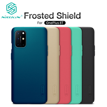 For OnePlus 8T Case Super Frosted Shield Hard Matte Back Cover Shell With Salient Dot Design For One Plus 8T Nillkin Case