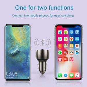 Image 3 - 3.5mm AUX Bluetooth 5.0 FM Transmitter Wireless Modulator 4.8A Dual USB Car Charger Handsfree Car MP3 Player Aluminum alloy Body