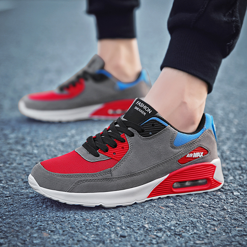 Shoes Men Lightweight Sport Running Shoes Men Breathable Mesh Lace-up Outdoors Trainer Walking Adults Sneaker Men Zapatos Hombr