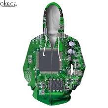 Модные толстовки hx на молнии для мужчин и женщин с электронным
