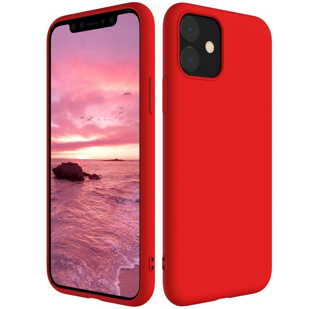 Мягкий Жидкий официальный силиконовый чехол для iPhone 11 Pro Max 8 Plus из микрофибры, Противоударная задняя крышка для iPhone X XR Xs MAX XS - Цвет: Red