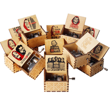 2020 Hot Theme Song Bella Ciao Wooden hand crank music box L