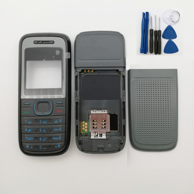 Mobile Phone Full Complete <font><b>Housing</b></font> Cover For <font><b>Nokia</b></font> <font><b>1208</b></font> + Keyboard+tools image