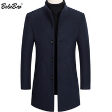 BOLUBAO Brand New Men Wool Coat Men's Solid Color Casual Slim Fit Overcoat Winter Comfortable Fashion Wool Blends Coats Male