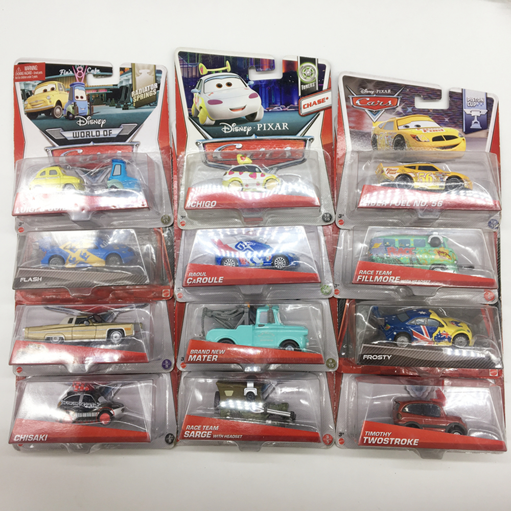 Rare Disney Pixar Cars Mel Dorado & Flash & Chisak Mattel Metal Diecast Toy Car 1:55 Brand New In Stock Car2 & Car3