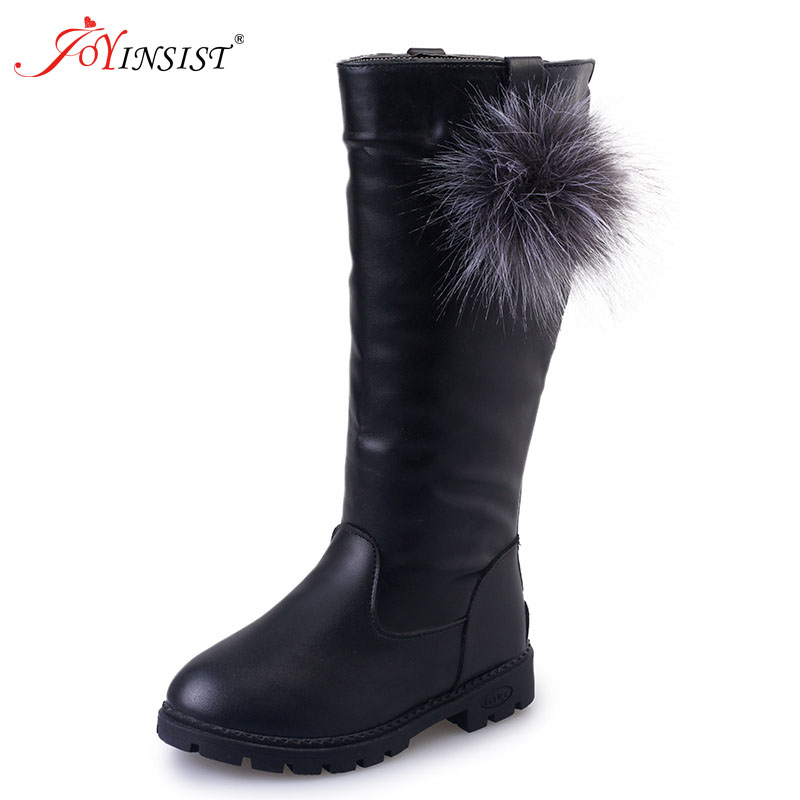 2019 Girls Boots High Quality Winter Children Boots Kids Shoes PU Leather Waterproof Rubber For Girl