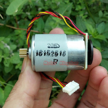 Micro RS-385 DC Motor With Speed Encoder Disk 12V 24V 10800RPM Mini High Speed Printer Motor 12Teeth Copper Gear image