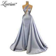Een Schouder Avondjurk Vestidos Elegant Dubai Arabisch Wedding Party Jurken Midden oosten Prom Gown Robe De Soiree 2020 Couture