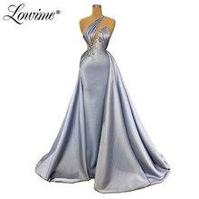 Vestido para festa de um ombro, árabe elegante dubai, de festa de casamento, médio oriente, de baile, robe de soiree 2020