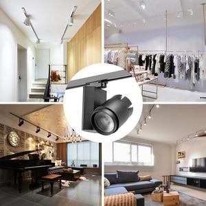 Image 5 - מודרני Led מסלול אורות 30W 40W זרקור רכבת בגדי חנות אולמות תצוגה Windows תקרת Zoomable מסלול תאורה קבועה