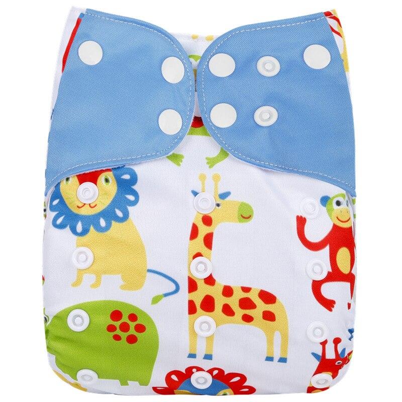 [Simfamily] 1 шт., новинка, Многоразовые водонепроницаемые детские тканевые подгузники с цифровым принтом, регулируемые детские подгузники, подходят для детей 0-3 лет, 3-15 кг - Цвет: NO3