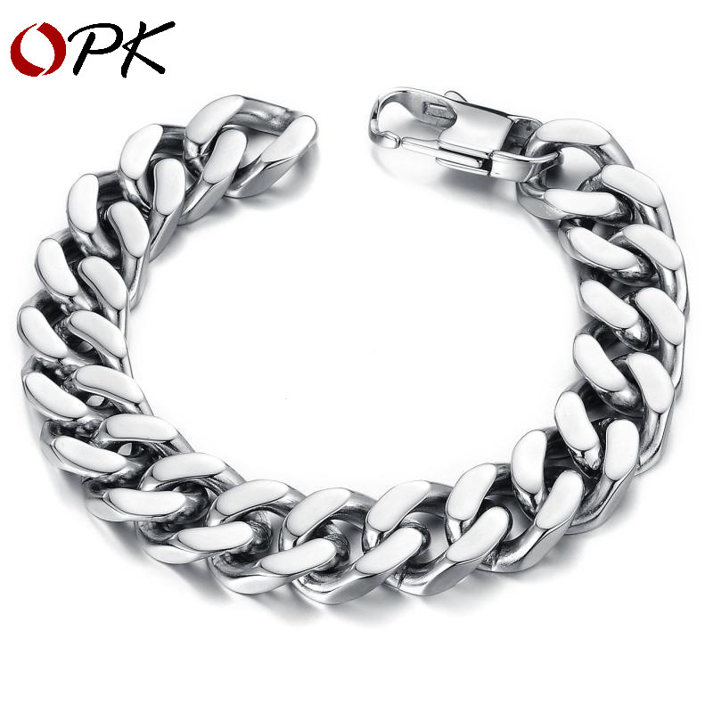 Jewelry Korean Male Section Steel Cuba Chain Men Mj Bracelet Homme Trend Stainless Ornaments Pulseira Masculina Pulseras Hombre in ID Bracelets from Jewelry Accessories
