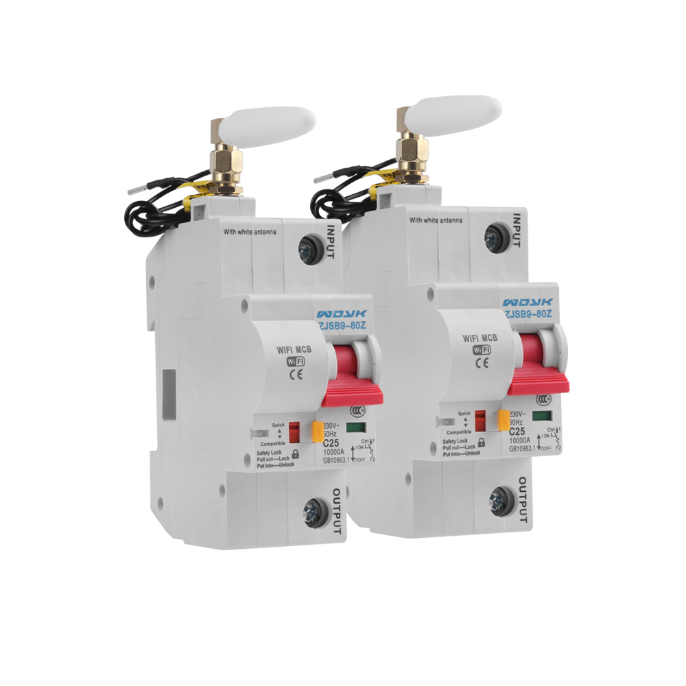 2PCS 1P WiFi Smart Switch Circuit Breaker Overload Short Circuit Protection Support Amazon Alexa Google Home For Smart Home