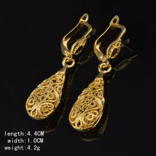 цена на Continuously Empty Earrings Ornaments Gold/Rose Gold/Platinum Color Long Earrings for Women Hollow Out Flower Drop Earrings