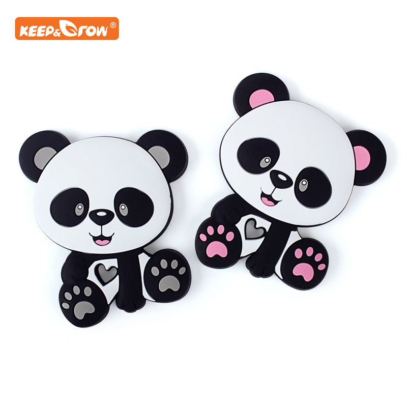 Keep&grow Panda Silicone Teethers Food Grade Animal Baby Teething Gift Chewing Toddler Toys Rodent Accessories