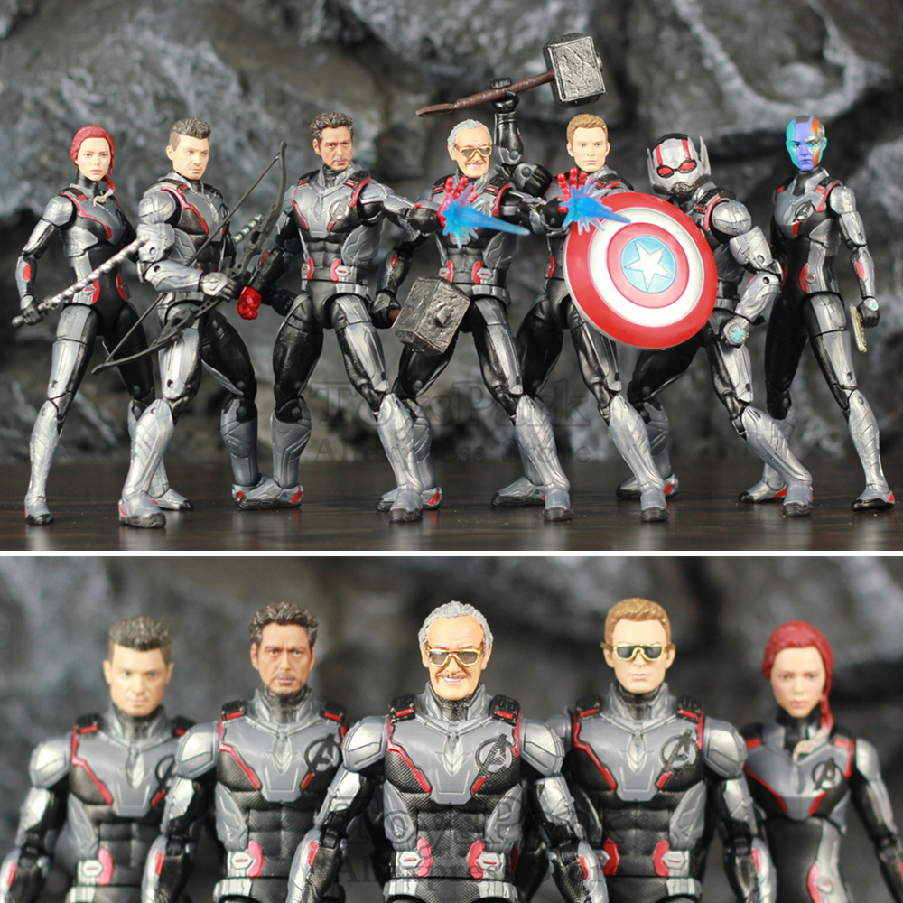 Marvel Legends Avengers 4 Endgame Quantum Suit Team 6