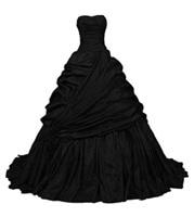 New Arrive Custom made Women's Gothic Taffeta Wedding Dress Pleats Black A Line Party Gowns vestido madre de la novia