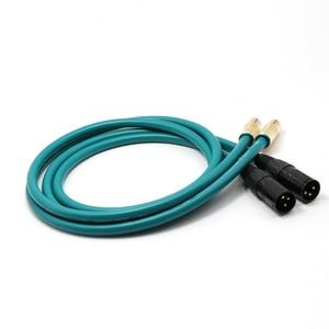 Image 2 - Pair HiFi Yter RCA to XLR Balanced plug Audio Cable Yter Cross Audio Amplifier CD DVD player RCA interconnect