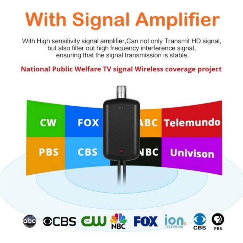 1Set Digital HDTV Antenna with Amplifier Signal Booster DVB-T2 Receiver Aerial