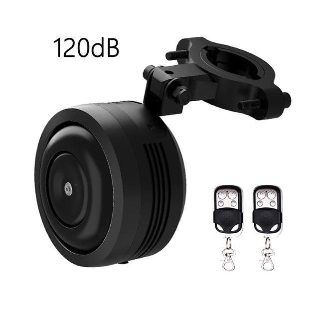Usb de carregamento da bicicleta sino chifre elétrico alarme alto som para m365 motocicleta scooter mtb bicicleta guiador segurança anti roubo alarme
