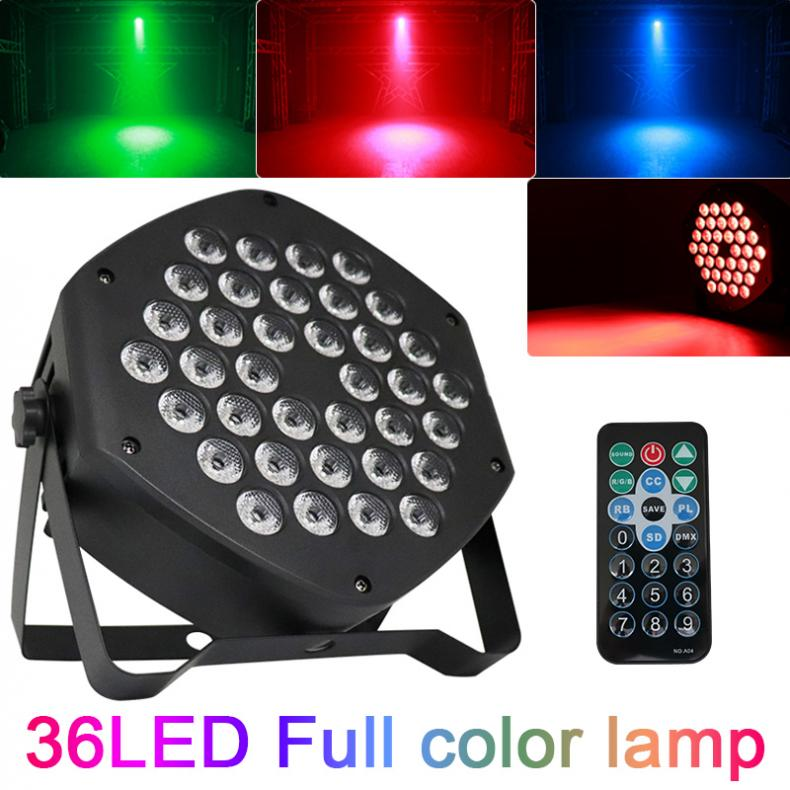 25W 3-in-1 Pattern Dyeing Par Light Full Color Lamp With Voice Control /DMX /  Wireless RF Remote Control For Small Party / KTV