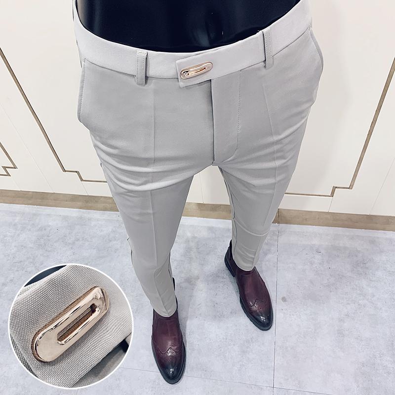 Suit pants spring men's suit pants fashion casual Slim business suit pants men's wedding party work pants classic large size 28