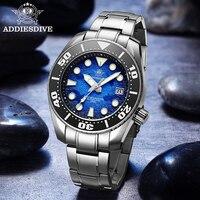 Addyes-reloj mecánico de buceo para hombre, reloj automático de cristal de zafiro BGW9, luminoso, resistente al agua, nuevo, a la moda, NH35