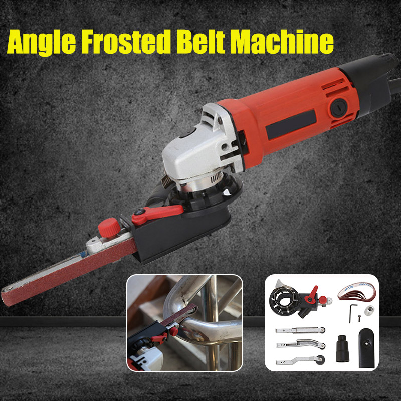 DIY Angle Grinder Mini Sander Sanding Belt Adapter Grinding Machine Bandfile Belt Head Sander For 115mm 4.5