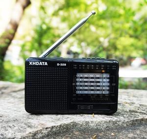 Image 5 - XHDATA D 328 שחור נייד רדיו AM FM SW 12 להקות עם DSP/MP3 מוסיקה נגן TF כרטיס חריץ ארוז עם סוללה נטענת