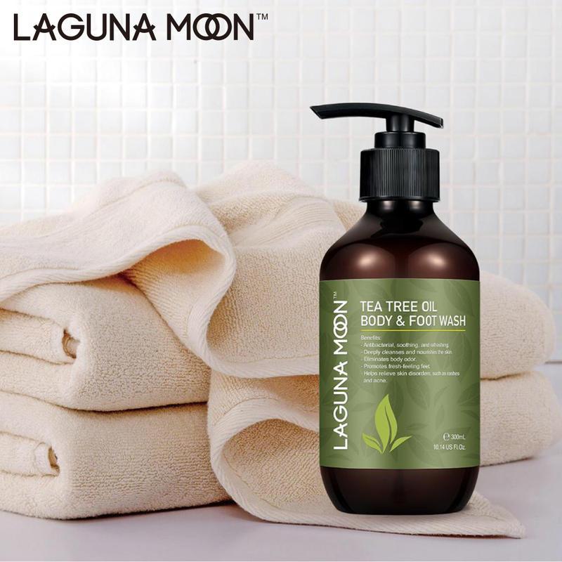 Laguanmoon Natural Tea Tree Essential Oils Body Wash Relief Shower Gel 300ML