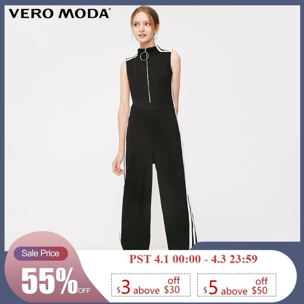 Vero Moda Women's Black Sleeveless Sports Jumpsuit   319144503