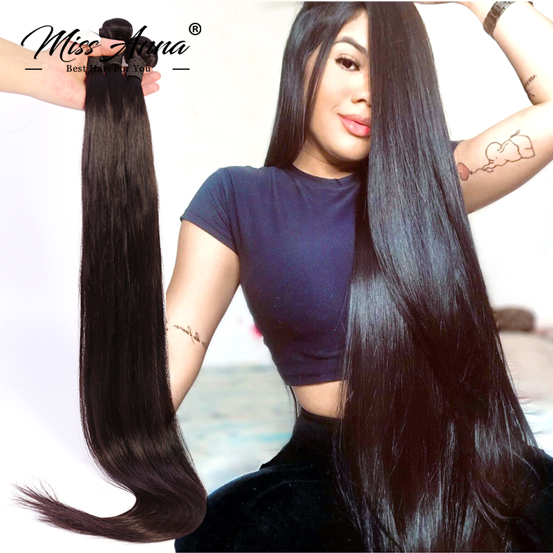 Missanna Straight Hair Bundles Peruvian 100% Human Hair Bundles Virgin Hair Weave Bundles 8-28 Inch Full End Hair Extensions