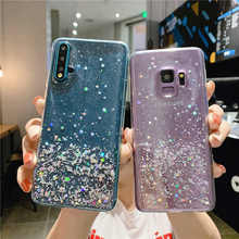 Fashion Silver Foil Bling Glitter Clear Soft Case For Huawei P20 Lite P30 Pro P10 Plus Y9 Y5 Y6 2018 Mate 20 Lite Back Cover(China)