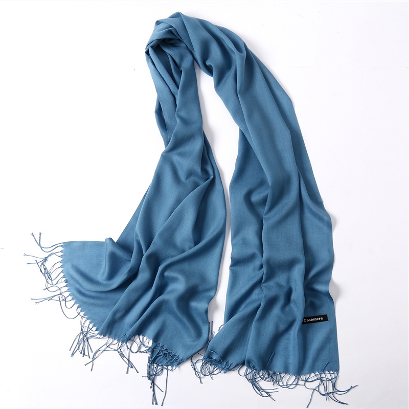 Winter Women   Scarves   Soild Cashmere   Scarf   Spring Summer Thin Pashmina Shawls Female   Wraps   Head   Scarf   Foulard Hijab Stoles Unisex