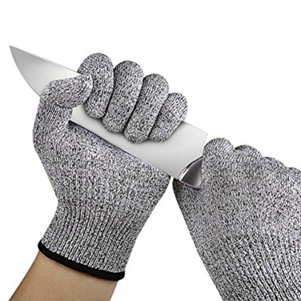 Outdoor Stab-resistant Cut-resistant Gloves Food Grade Kitchen Slaughtering Immersion Adhesive HPPE Polyethylene Men Gloves