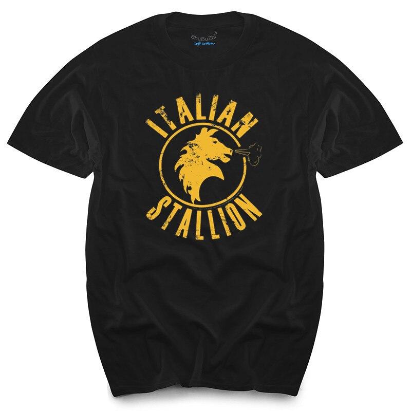 Рокки в итальянском стиле, лицензированный взрослых Рубашка XS-3XL мужские топы, футболки, новый модный бренд футболку летних футболок из хлоп...