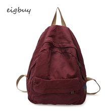 купить Women Backpack Casual Backpack Brand Solid Canvas Solid Zipper Pink Fashion School Backpacks For Teenagers Mochilas Plecak дешево
