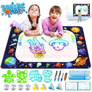 Creactive Amazing Colorful Draw Toy Magic Water Drawing Mat Board Educational Toys Book Set For Kids Children Girls Game Doodle