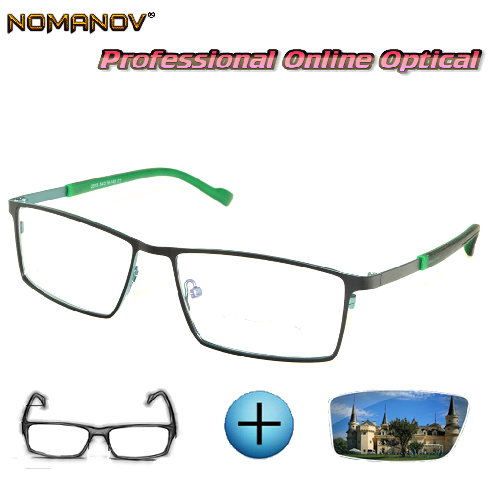 Custom Made Prescription Glasses Optical Photochromic Myopia Reading Glasses Sports Business Comfort Glasses Frame Men Lady