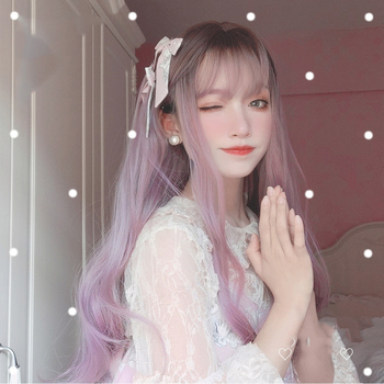 MANWEI 70CM Long Curly Wavy Berry pink Ombre Bangs Cute Party Synthetic Hair Cosplay Wig цена 2017
